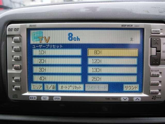 トヨタ ウィッシュ X 4WD 純正DVDナビ DVD再生可