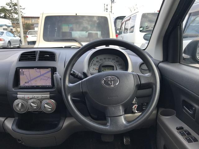 トヨタ パッソ X 社外SDナビ DVD再生可 ブルートゥース対応