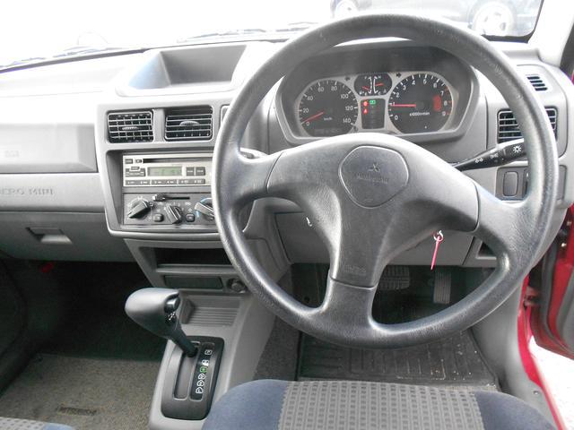 三菱 パジェロミニ VR ターボ 4WD 4AT ドアバイザー ワンオーナー
