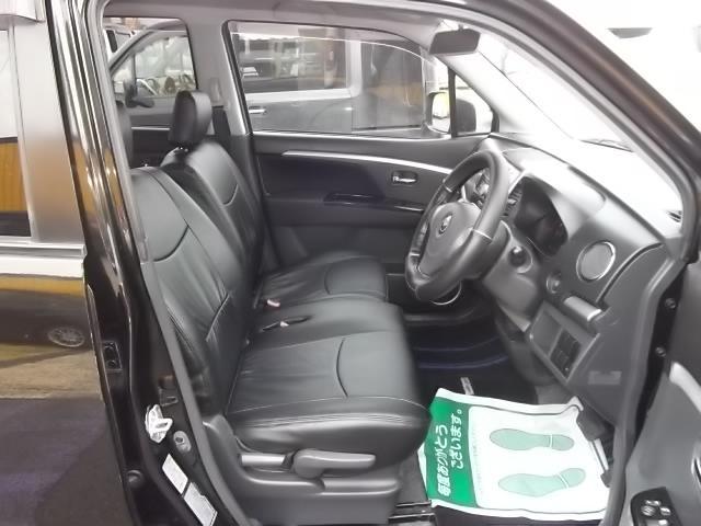 マツダ AZワゴンカスタムスタイル XS 黒革調シートカバー スマートキー 禁煙