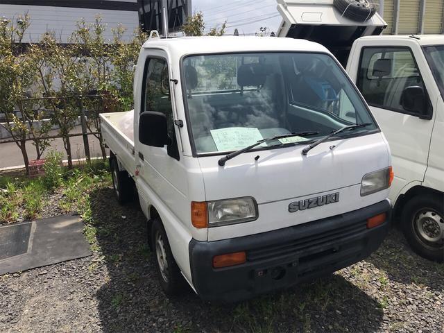 4WD エアコン マニュアル 軽トラック ホワイト(3枚目)