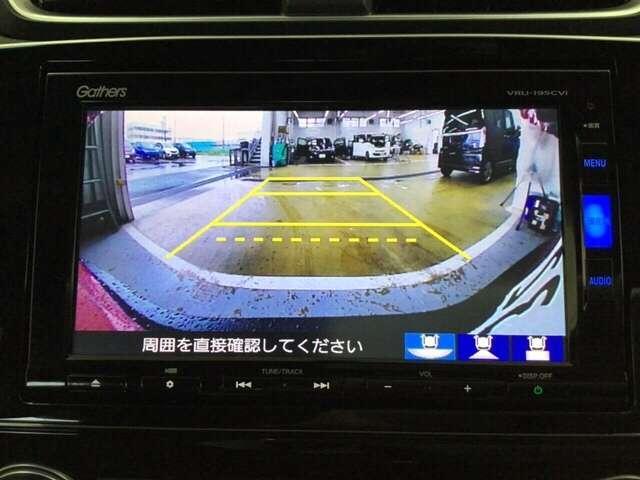 純正メモリーナビです。ガイド線表示機能付きのバックカメラで、バックでの車庫入れも安心です