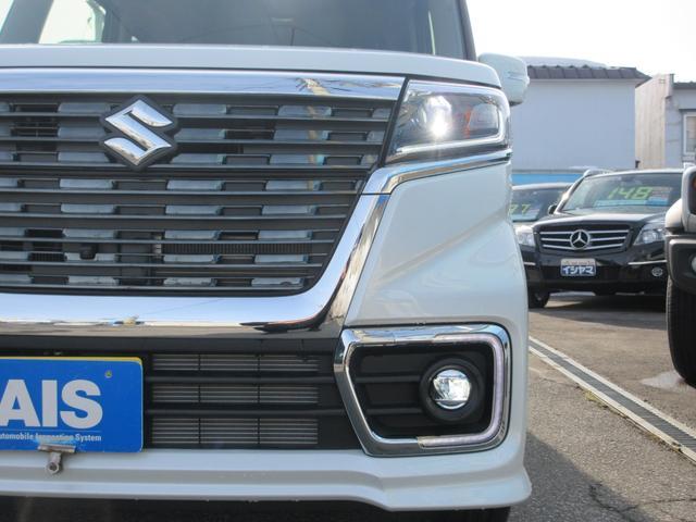 ハイブリッドXSターボ 4WD 全方位モニターパッケージ デュアルセンサーブレーキ&スズキセーフティサポート 寒冷地仕様 届出済未使用車 両側パワースライドドア ヘッドアップディスプレイ コーナーセンサー シートヒーター(9枚目)