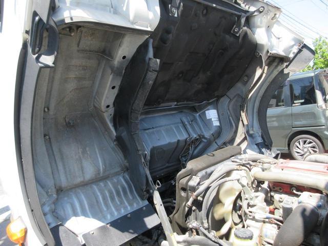 ワイド ロング フルジャストロー 荷台床鉄板張替仕上済 ディーゼルターボ NOX・PM法適合 DPF アオリ開閉補助装置 後輪ダブルタイヤ 最大積載量2000kg 三方開 ホイール組スタッドレス有(46枚目)