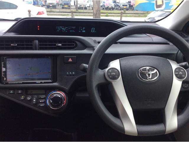 トヨタ アクア S プッシュスタート GOO保証パック 新品ナビ・TVパック