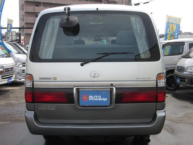 トヨタ ハイエースワゴン スーパーカスタムG4WDディーゼル4ナンバー貨物登録可