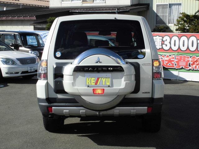 三菱 パジェロ ロング スーパーエクシード 4WD HDDナビ 本革シート