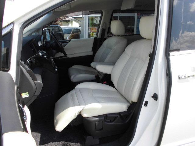 日産 エルグランド ライダー切替4WD 寒冷地仕様 白本革シート フリップダウン