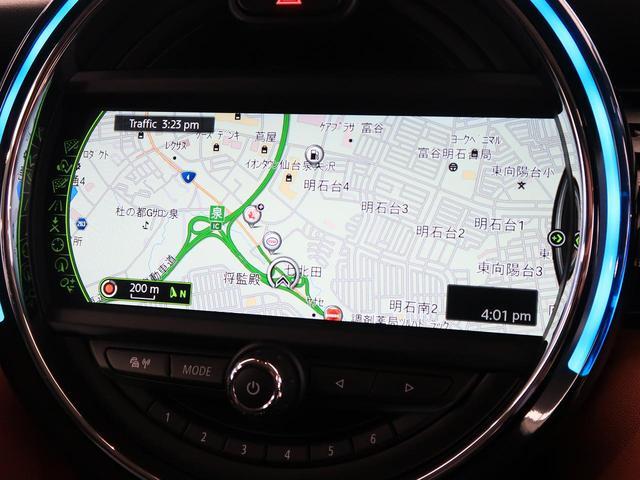 クーパーSD セブン 特別仕様車 チェック柄入りハーフレザーシート 純正17インチAW 純正HDDナビ レインセンサー オートライト LEDヘッドライト コンフォートアクセス エキサイトメントPKG ライトPKG 禁煙車(6枚目)