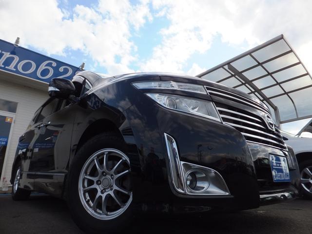 日産 エルグランド 250ハイウェイスター 4WD 純正HDDナビ 両側パワスラ