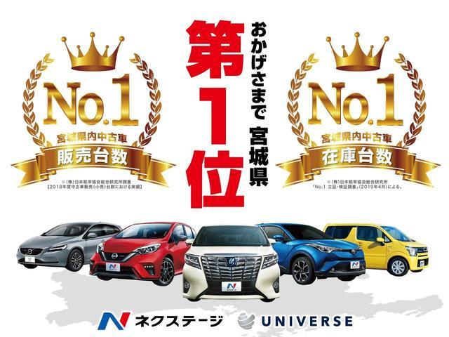 おかげさまでネクステージは宮城県で在庫台数・販売台数NO.1。(株)日本能率協会総合研究所調査 【2018年度中古車販売〈小売〉台数における実績】「No.1立証・検証調査」(2019年4月)による。