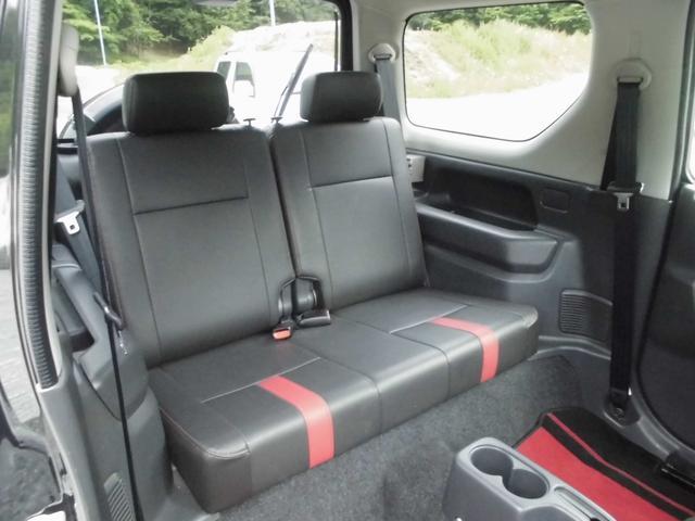 ワイルドウインド 4WDターボ リフトアップ 社外アルミ 前後社外カーボン調バンパー 社外マフラー 社外HDDナビ&フルセグテレビ&DVD&Bluetooth 専用レザーシート シートヒーター ルーフレール(43枚目)