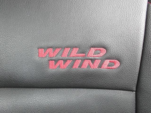 ワイルドウインド 4WDターボ リフトアップ 社外アルミ 前後社外カーボン調バンパー 社外マフラー 社外HDDナビ&フルセグテレビ&DVD&Bluetooth 専用レザーシート シートヒーター ルーフレール(48枚目)