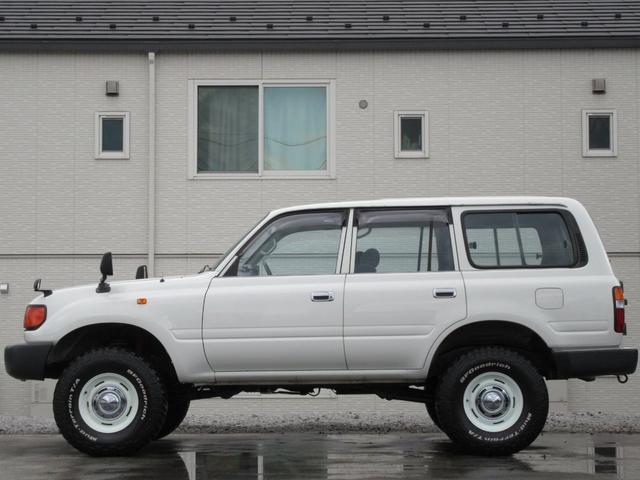 トヨタ ランドクルーザー80 GXナロー観音開き3インチアップデフロック付MTタイヤ