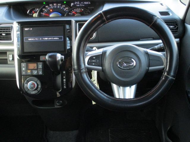 カスタムRS SAII 4WD! 衝突軽減装置システム ターボ車 両側自動スライドドア 純正SDナビ バックカメラ HDMI フルセグ USB接続 CD DVD再生 アイドリングストップ ステアリングリモコン(11枚目)