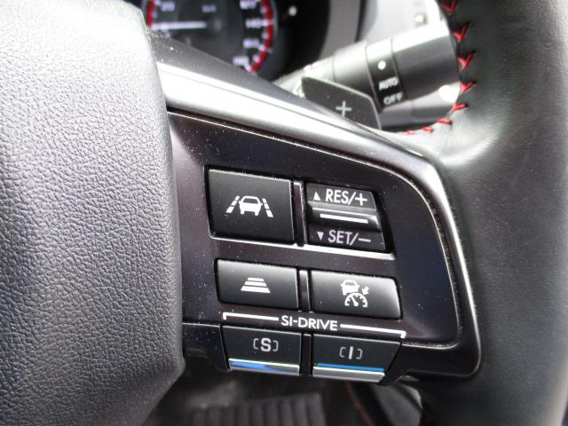 1.6STIスポーツアイサイト 4WD 衝突被害軽減装置 レーンアシスト 追従クルコン サンルーフ SDナビ フルセグ CD DVD SD Bluetooth バックカメラ サイドカメラ 専用レザーシート パワーシート スマートキー(37枚目)