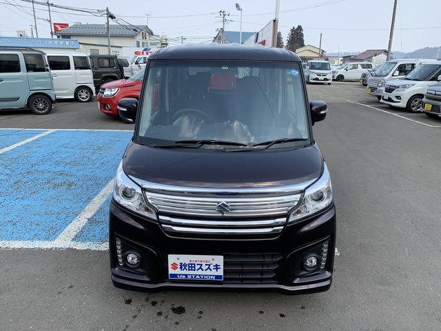 「スズキ」「スペーシアカスタム」「コンパクトカー」「秋田県」の中古車8