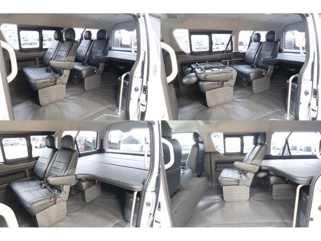 6人乗車&ベットスペースの状態です♪お子さんと長距離のお出かけの時にお子さんを平らなところで休ませてあげられます♪小さなお子さんのおむつ交換も楽々できます。