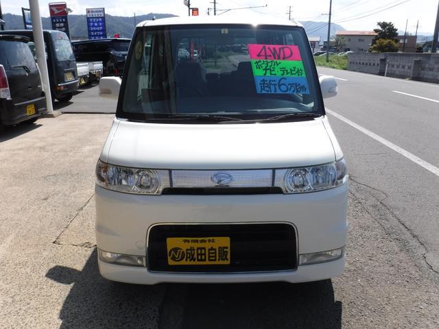 カスタムX 4WD キーレス HIDライト ナビテレ(2枚目)