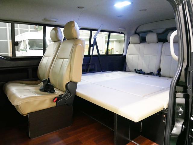 トヨタ ハイエースワゴン GL 4WD 車中泊 床張り ライトキャンピング