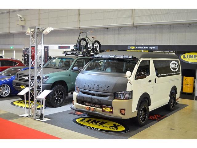 東京オートサロンにLINE-X AUTO JAPANとして弊社デモカーのハイエースを展示しました。その他多数のイベントにも出店しております。