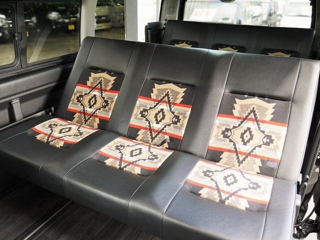 【カスタム例】 ハイエースの車中泊できる街乗り仕様車:FD-BOX × PENDLETONのコラボです。街乗りはもちろん、車中泊も楽しさ倍増です♪ お問い合わせお待ちしております。