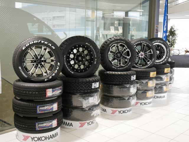 各メーカータイヤ ホイールも展示しております。