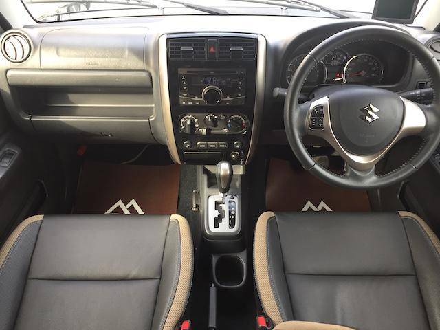 ランドベンチャー K3プレミアム2.5インチリフトUP&前後ショートバンパー&スキッドプレート&マフラー&サイドステップ ジオランダーM/T クオーレモジュレ合皮シート 前席シートヒーター 切替4WD CDオーディオ(4枚目)