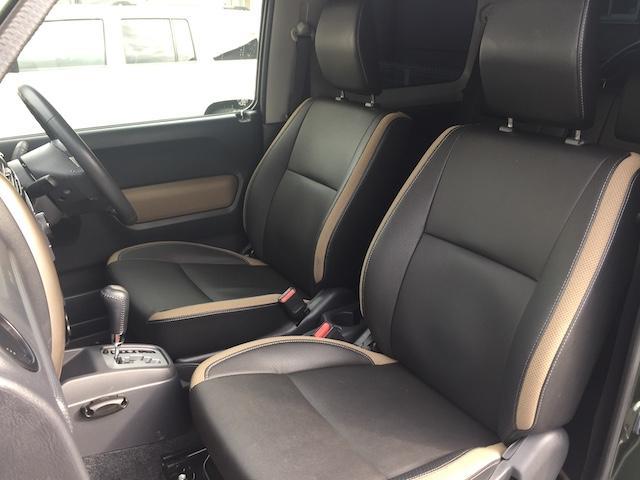 ランドベンチャー K3プレミアム2.5インチリフトUP&前後ショートバンパー&スキッドプレート&マフラー&サイドステップ ジオランダーM/T クオーレモジュレ合皮シート 前席シートヒーター 切替4WD CDオーディオ(17枚目)