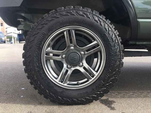 ランドベンチャー K3プレミアム2.5インチリフトUP&前後ショートバンパー&スキッドプレート&マフラー&サイドステップ ジオランダーM/T クオーレモジュレ合皮シート 前席シートヒーター 切替4WD CDオーディオ(34枚目)