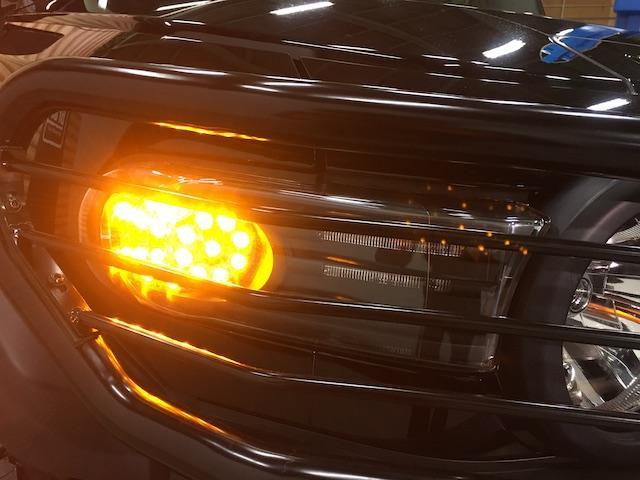 ブラックカラーパッケージ フロント2.5インチ・リア1.5インチリフトアップスペーサー 新品ジオランダーM/T 新品グリルガード 新品ルーフラック 新品LEDウインカー 新品テールランプガード 純正SDナビ フルセグ(32枚目)