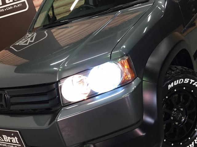 HIDエディション 2インチリフトUP 腰下マッチペイント セミグロスブラック塗装 新品ナイトロパワー16インチAW 新品マッドスターラジアルM/T HIDヘッドライト フォグ ETC オートライト マフラーカッター(35枚目)