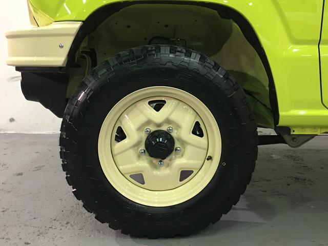 XL DAMD JIMNY the ROOTS3点セット(グリル 前後バンパー)ツートン塗装 新品1インチリフトUP 新品オープンカントリーM/T-R5本組 SDナビ フルセグ 前席シートヒーター(15枚目)