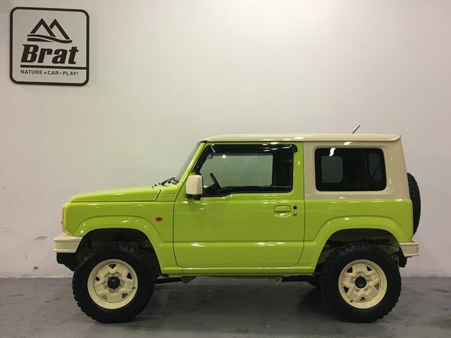 XL DAMD JIMNY the ROOTS3点セット(グリル 前後バンパー)ツートン塗装 新品1インチリフトUP 新品オープンカントリーM/T-R5本組 SDナビ フルセグ 前席シートヒーター(16枚目)