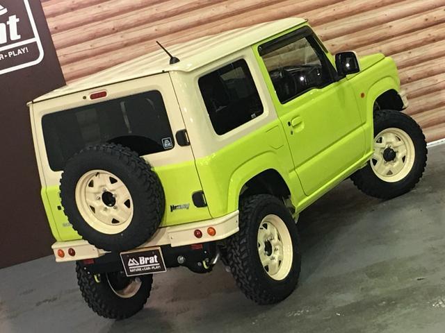 XL DAMD JIMNY the ROOTS3点セット(グリル 前後バンパー)ツートン塗装 新品1インチリフトUP 新品オープンカントリーM/T-R5本組 SDナビ フルセグ 前席シートヒーター(43枚目)