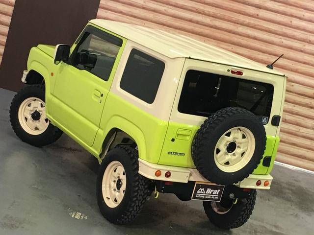 XL DAMD JIMNY the ROOTS3点セット(グリル 前後バンパー)ツートン塗装 新品1インチリフトUP 新品オープンカントリーM/T-R5本組 SDナビ フルセグ 前席シートヒーター(46枚目)