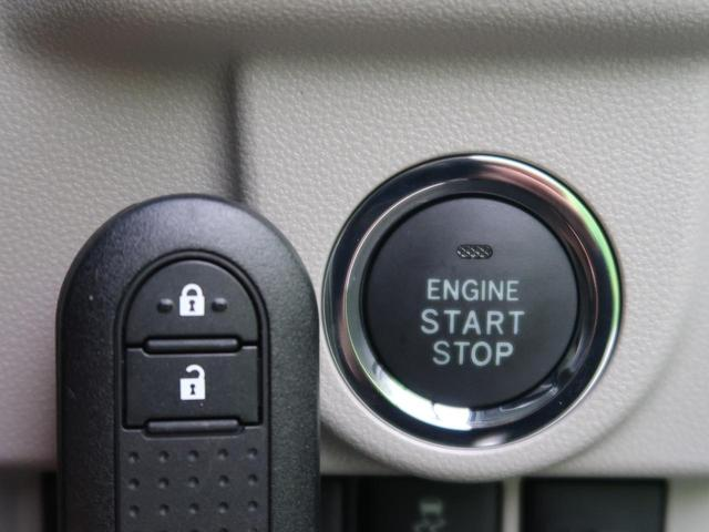 スマートキー&プッシュスタート機能がございますので、ドアの開閉からエンジンをかけるところまでかぎを触らずに操作可能です。毎日お車を使用するお客様ですとあると便利ですよね☆
