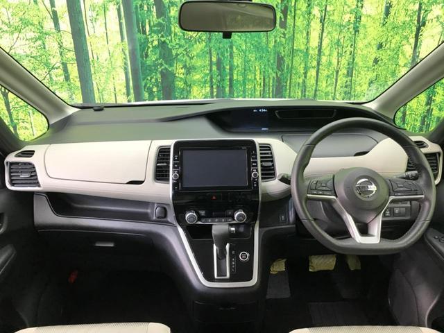 ハイウェイスター 純正9型ナビ エマージェンシーブレーキ 禁煙車 クルコン 両側電動スライド ハンズフリーオートスライドドア バックカメラ Bluetooth オートエアコン オートライト プッシュスタート ETC(3枚目)