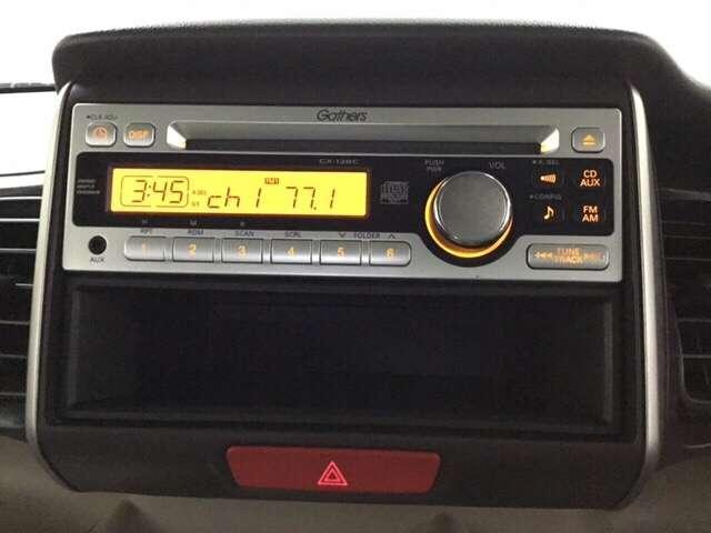 オーディオはラジオとCDをお楽しみいただけるGathersCX-128Cを搭載しております。お手持ちや新品のナビ・オーディオ等との入替え等につきましては店頭にてご相談ください。
