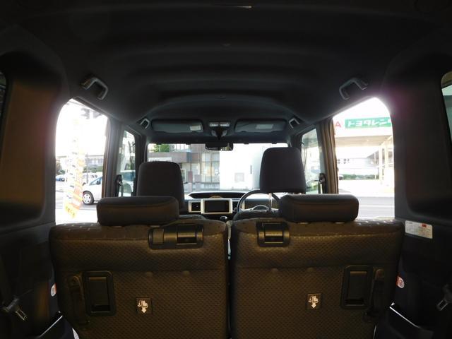 G SA ターボ 社外ナビ/TV 4WD アイドリングストップ オートライト 純正アルミ バックカメラ フロントカメラ シートシーター 両側パワースライドドア 横滑り防止 HID(11枚目)