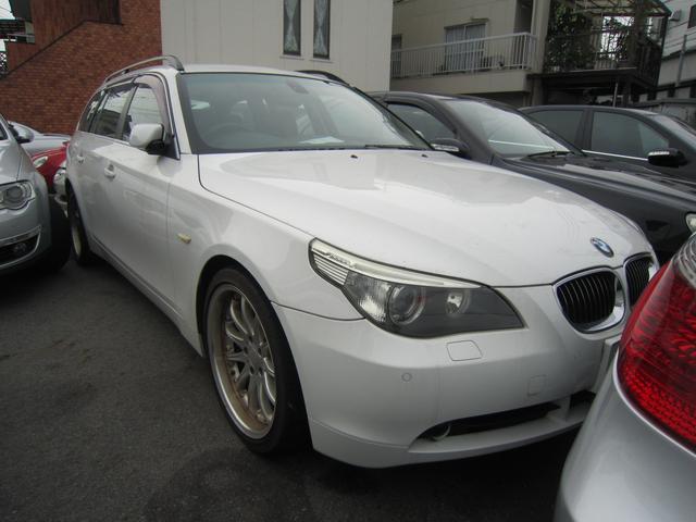 BMW 525iツーリング 社外アルミ ブラックレザー