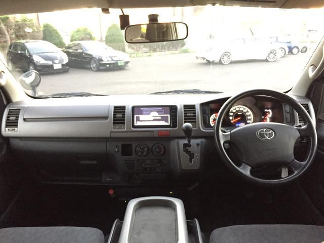 トヨタ ハイエースバン ロングスーパーGL 軽油4WD ナビ ローダウン 18AW