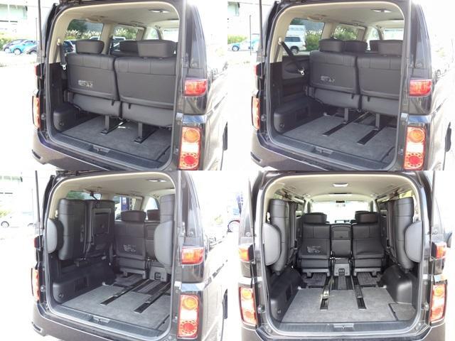 250ハイウェイスター ブラックレザーED 4WD 左電動スライドドア HDDナビ フルセグTV バックカメラ サイドカメラ 運転席パワーシート 運転席・助手席シートヒーター インテリキーの イモビライザーHID フォグランプ ETC(14枚目)