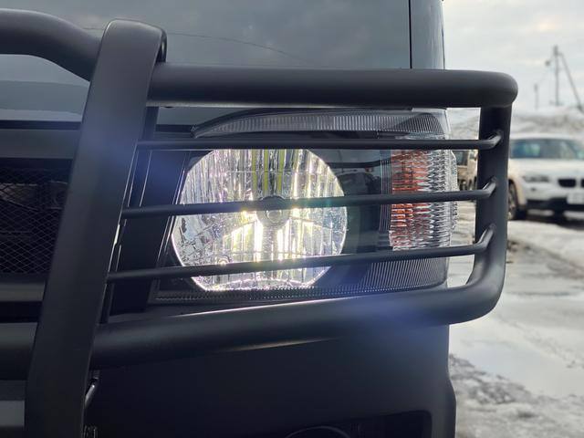 ロングスーパーGL 関東仕入れ 自社オールペンセメントグレー 下部マッドブラック 15インチアルミマットタイヤ インナーブラックヘッドライト LEDヘッドランプ LEDフォグ グリルガード テールガード(7枚目)