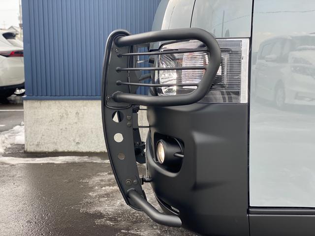 ロングスーパーGL 関東仕入れ 自社オールペンセメントグレー 下部マッドブラック 15インチアルミマットタイヤ インナーブラックヘッドライト LEDヘッドランプ LEDフォグ グリルガード テールガード(10枚目)