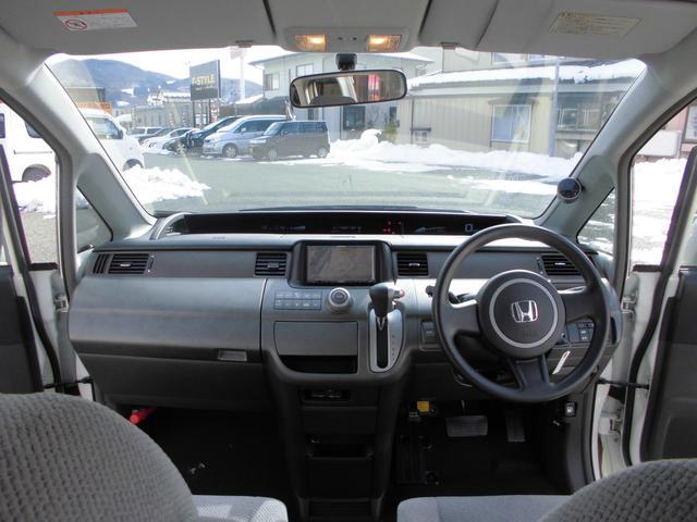 ホンダ ステップワゴン G ハーフエアロ 社外車高調 カロッツェリアナビ ETC付き