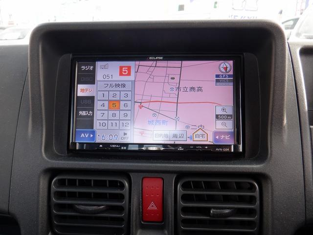 GX 4WD 横浜仕入れ 社外SDナビ CD・DVD再生 フルセグ キーレス フォグランプ ETC 寒冷地仕様 禁煙車 マニュアルエアコン ハロゲンヘッドライト スチールホイール12インチ 集中ドアロック(3枚目)