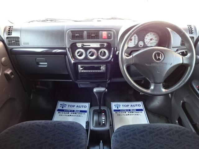 ホンダ バモス ターボ 4WD ABS キーレス 純正アルミ ETC 保証付