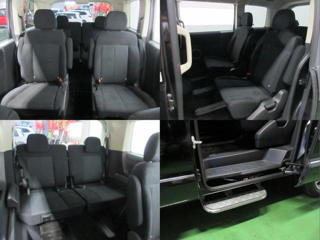 2列目は座り心地の良いキャプテンシート仕様の7人乗りです。 助手席側のスライドドアにはオプション装備のステップも取り付けられています!