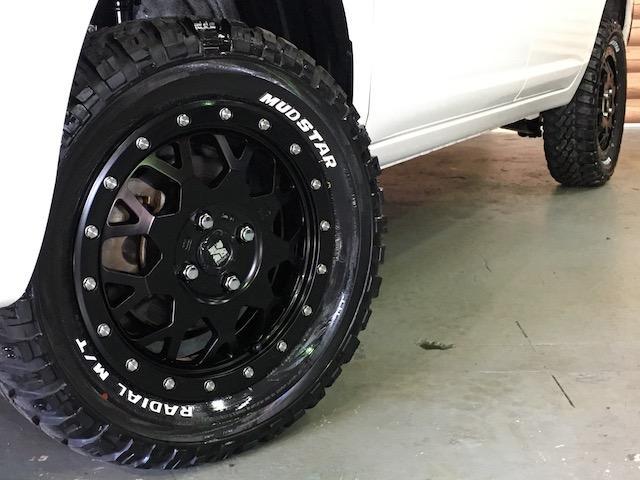 GL 4WD 2インチリフトアップ エクストリームJアルミ マッドスターM/T 各所ブラック塗装 ルーフキャリアー レガリア製シートカバー 電動格納ミラー シートリフター キーレス ETC スペアキー(25枚目)